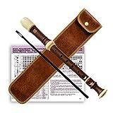 Klarinette aus Holz mit Holzmaserung 8-Loch Sopranblockflöte Klarinette Kinder Erwachsene
