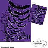 1art1 Fledermäuse, True Gothic 1 Poster Kunstdruck (80x60
