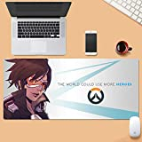 Dmsbzd Overwatch Tracer nime Usure de la Surface de la Protection Durable Grand Personnaliser Home Office Tapis de Souris 800 * 300mm Jeu Icône (Color : 900 * 400mm, Taille : 3mm)