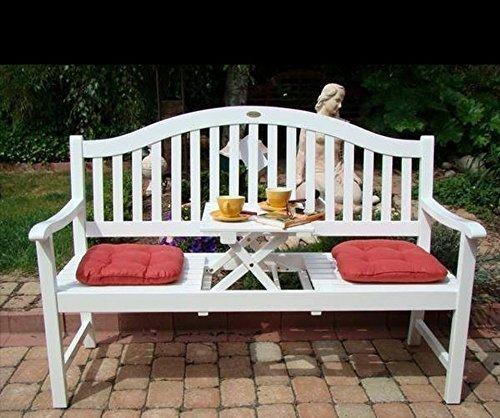 Benelando® Dekorative Gartenbank mit ausklappbarem Tisch - 3 Sitzer