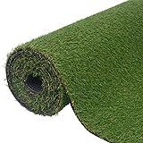 Tidyard Prato Artificiale Tappeti per Balconi e Terrazze da Esterno,Protezione UV,Giardino in Miniatura Erba Decorazione,1x15 m/1,5x10 m/0,5x5 m/,Verde
