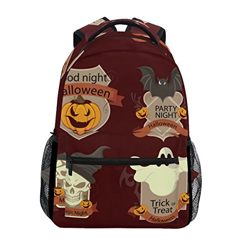 COOSUN Retro Halloween Tags Casual Backpack School Bag Travel Daypack