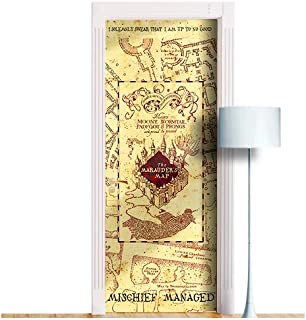Marauders Map. ONE Piece Sticky Mural, Decole, Skin, Wrap, Decal, Cover, Poster for Door, Wall or Fridge (36