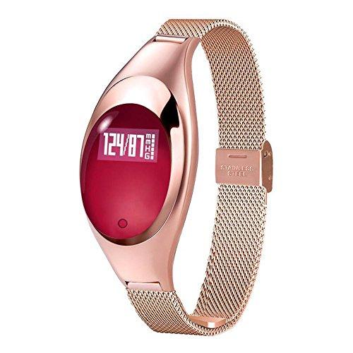 Fitness Tracker Wristband, Teepao frequenza cardiaca pressione sanguigna + + + pedometro Bluetooth attività Z18esercizio di ossigeno nel sangue monitor, fashion Smart Watch per iPhone Android phones- Black