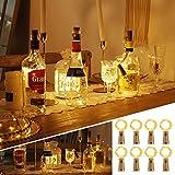 Flaschenlicht mit Korken 8 Stücke 15 Led Lichterkette für Flaschen Lichterketten Stimmungslichter Weinflasche Kupferdraht, Batteriebetriebene für DIY Partys, Weihnachten, Halloween(Warmweiß)