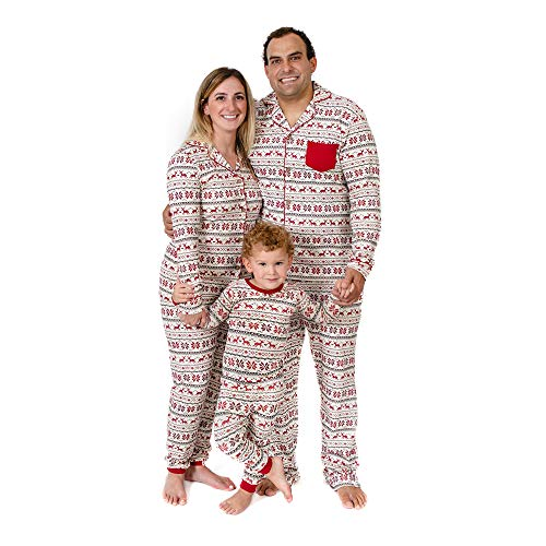 Burt's Bees Baby, Family Jammies, Matching Holiday Pajamas, Organic Cotton PJs, Dashing Deer Fair Isle, Baby Sleeper, 24 Months