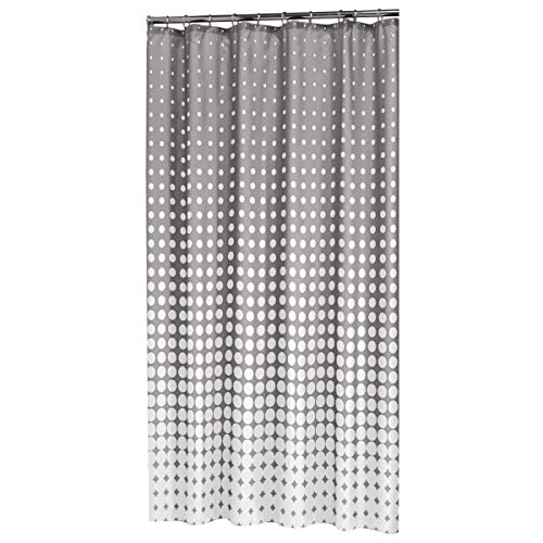 Sealskin 233601314 Textil Duschvorhang Speckles, Farbe: Hellgrau, B x H: 180 x 200 cm