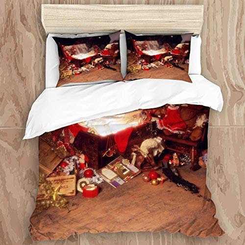 88888 printed duvet cover,christmas xmas toys trunk vintage,microfiber quilt cover(260x220cm),Pillowcase 50x80cm