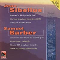 Sibelius: Sym No 5 / Barber: Clo Cto by YESIPOV / USSR STATE SYM ORCH