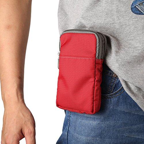 Celular Bolsa de Cintura Hombre, Bolso Cruzado Hombre para Teléfono Celular, 6.0' Pequeñas Riñonera Funda Móvil con Vertical Clip Cinturón Cartera Bolsa de Hombro Bolso Bandolera para Deportes Camping
