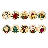 UPKOCH 10 Piezas imanes de Nevera de Navidad imanes de Nevera de Cristal para Fotos de Pizarra de Oficina Relleno de Bolsa de Navidad