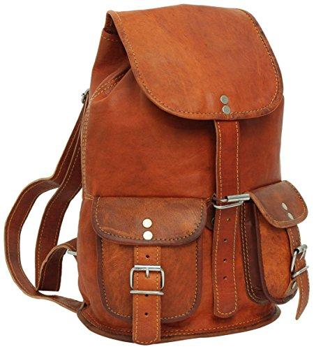 Gusti Rucksack Leder - Gary 9,7'' Cityrucksack Lederrucksack Vintage Braun Leder