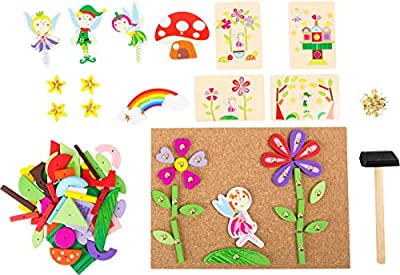 Small Foot Wooden Toys Fairy Theme Hammer Arts & Crafts Playset Designed for Children Ages 6+