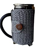 Grey French Press Cover Cozy