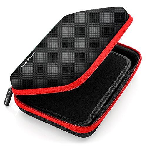 deleyCON Navi Tasche Navi Hülle Tasche für Navigationsgeräte - 6 Zoll und 6,2 Zoll (17x12x4,5cm) - Robust und Stoßsicher - 1 Innenfach - Rot