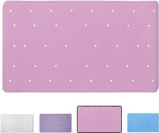 ANSIO Alfombra de baño Bañera Antideslizante Antimoho Alfombra de Ducha de Caucho 40 x 70 cm / 15.8 x 27.7 Pulgadas - Rosa