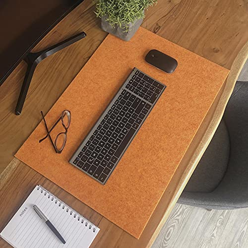 Kontor28 - Mantel de fieltro HOLM 59 x 42 cm, lavable, para oficina o casa, de fieltro de alta calidad, fabricado en Baviera. Color melón, amarillo y naranja