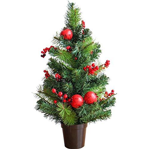 NLRHH Weihnachtsbaum Mini Verschlüsselung Granatapfel Flocking Weihnachtsbaum auf Weihnachtstag Desktop Requisiten Ornamente 45 cm grüne DIY (Größe: 60cm) Peng