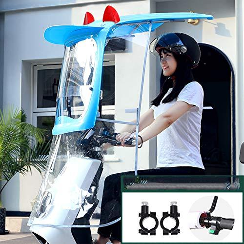 ZYQDRZ Vesor De Scooter Eléctrico, Visera De Scooter Sol, Visera Solar, Impermeable, Viento Y Arena,Azul,B