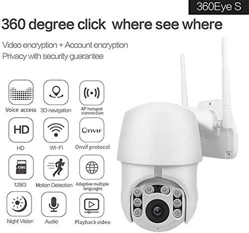 LJYY wasserdichte Sicherheitsüberwachung für den PTZ-Balltyp im Freien, 1080P IP-Kamera WiFi-Funk-Tracking-Erkennung mit Nachtsicht-Zwei-Wege-Sprachkamera