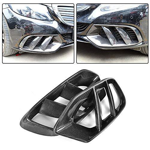 JC SPORTLINE fits Mercedes Benz C Class W205 C205 A205 Base C180 C200 C250 C300 C400 2D 4D 2015-2018 Carbon Fiber Fog Light Lamp Vent Trim Cover Front Bumper Spoiler Splitters Apron Fin