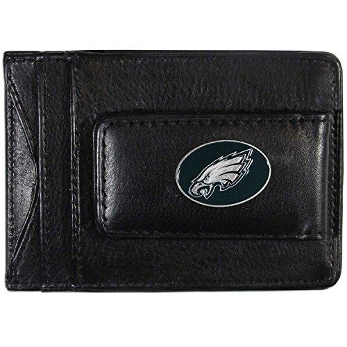 NFL Siskiyou Sports Mens Philadelphia Eagles Leather Cash & Cardholder One Size Black