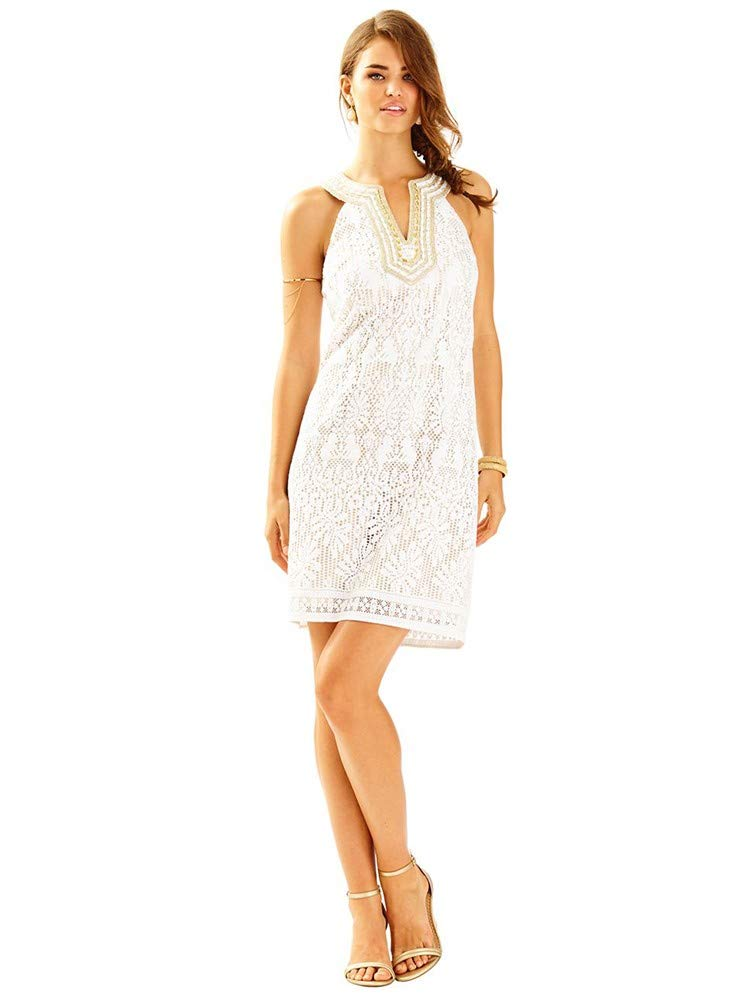 Available at Amazon: Lilly Pulitzer Women Calera Shift Dress Size 8 White