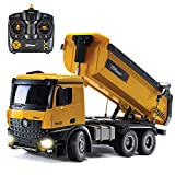 Top Race Remote Control Construction Dump Truck, RC Dump Truck Toy, Construction...