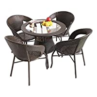 Buy This original Patio Set From Unique360 ONLY A Wix is Out Door Is perfectly Design for comfort lover People With High Quality Rattan Weave Extra UV proof And Water Proof With 4 chairs And center Table and Glass to Relax in Balcony.you Can Use IT F...