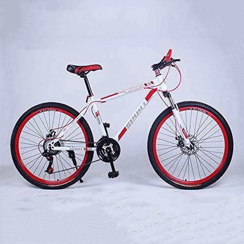 YXWJ 24/26 Pollici Mountain Bike off-Road Doppia velocità di Montagna Adulto Uomini e Le Donne della Bicicletta del Freno a Disco di Ciclismo su Strada (Color : 26 Inches, Dimensione : 24 Speed)