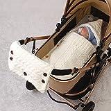 Luerme Schlafsack für Kinderwagen Gestrickter Babymantel für Kinderwagen Wintermäntel Multifunktionale Babies
