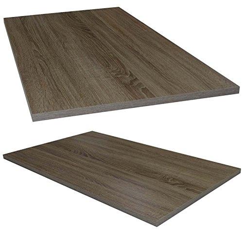 Tischplatte aus Holz für Schreibtische - Holzplatte perfekt geeignet für Schreibtisch, Couchtisch/Esstisch - Verschiedene Größen & Farben (95x56cm, Trüffel Eiche)