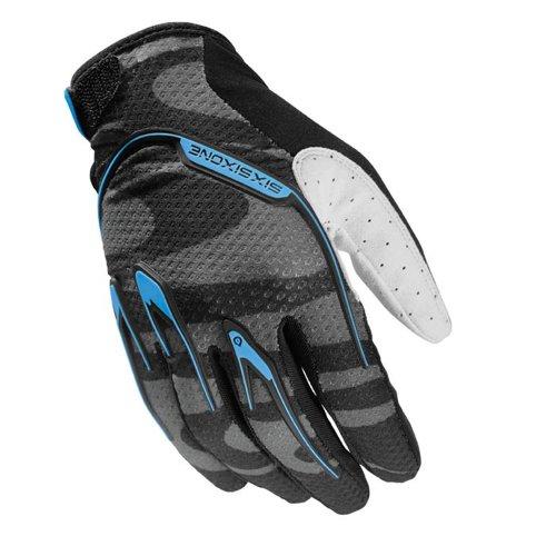 SixSixOne Uni Handschuh Recon Camber, schwarz/Cyan, M, 6796-35-009