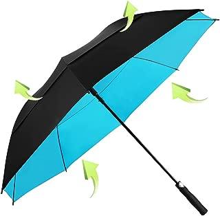 KOLER Golf Umbrella Windproof Oversized Double Vented Canopy Auto Open Waterproof & Sunproof 62 Inch Extra Large Stick Umbrellas