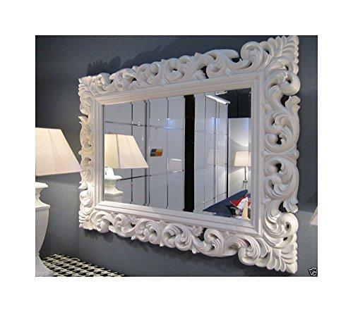 Lnxp Wandspiegel WEIß Spiegel ANTIK BAROCK Rokoko 90X70 Florenza UVP 499€ Woe