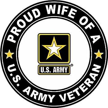 Military Vet Shop U.S Army Veteran Proud Wife Window Bumper Sticker Decal 3.8