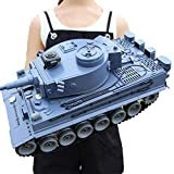 Ycco Crawlers Chariot Holiday Birthday Gifts  Super Large Child Charging Remote Control Tank Chariot Toy Tank- 1:18 WWII German Tiger 171 Panther A (2),Tank ( Color : Blue )