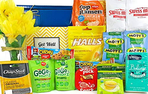 Get well gift basket for cold or flu