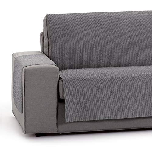 Vipalia Protector Funda para Sofa Ajustable. Cubresofas para Invierno Verano. Funda Sofa Antimanchas Chenilla Suave. Color Gris. Cubre Sofa 4 plazas (190 cm)