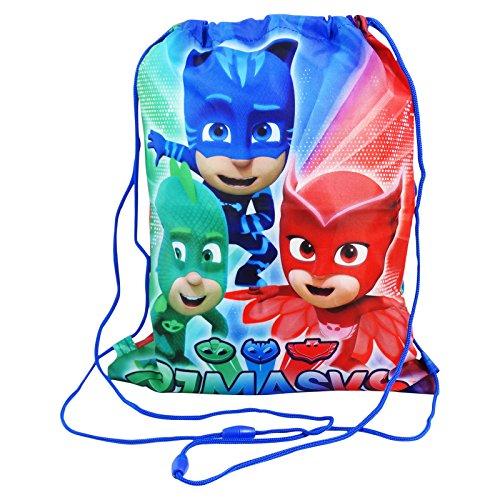 PJ Masks In The Night Sacca con Cordoncini Capiente per Ragazzi Bambini uso Scuola e Tempo Libero, Multiuso