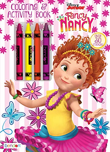 Fancy Nancy Coloring and Activity Book with Crayons 13939, Bendon, Multicolored
