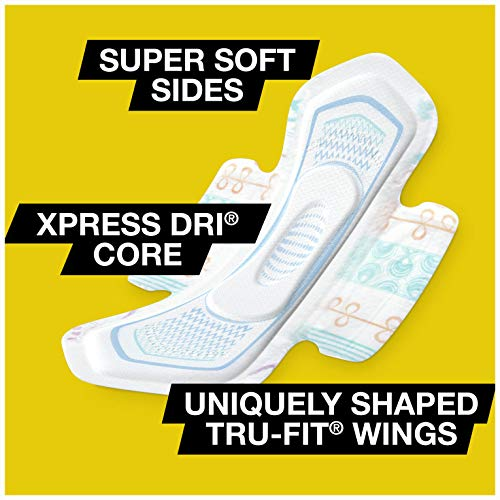 U by Kotex CleanWear Ultra Thin Pads with Wings, Regular, Fragrance-Free, 50 Count