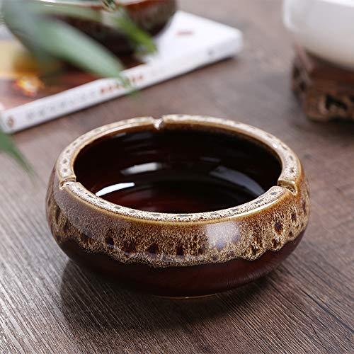 SHUNHUI Keramik Aschenbecher Große Retro Aschenbecher Home Trend Wohnzimmer Büro Aschenbecher Geschenk Dekoration Vatertagsgeschenk