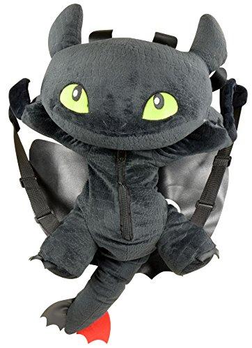 Dragons / Drachenzähmen 3D Rucksack Ohnezahn / Toothless 60cm, riesen Plüsch Dragons