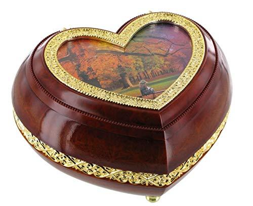 Boîte à musique / boîte à bijoux musicale de la Saint-Valentin en forme de coeur (possibilité de personnaliser l'image) - Réf: 45001 - Petite musique de nuit - Eine kleine Nachtmusik (W. A. Mozart)
