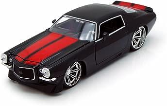 Jada 1971 Chevy Camaro, Black w/ Red Stripes Toys 90535 - 1/24 Scale Diecast Model Toy Car, but NO Box