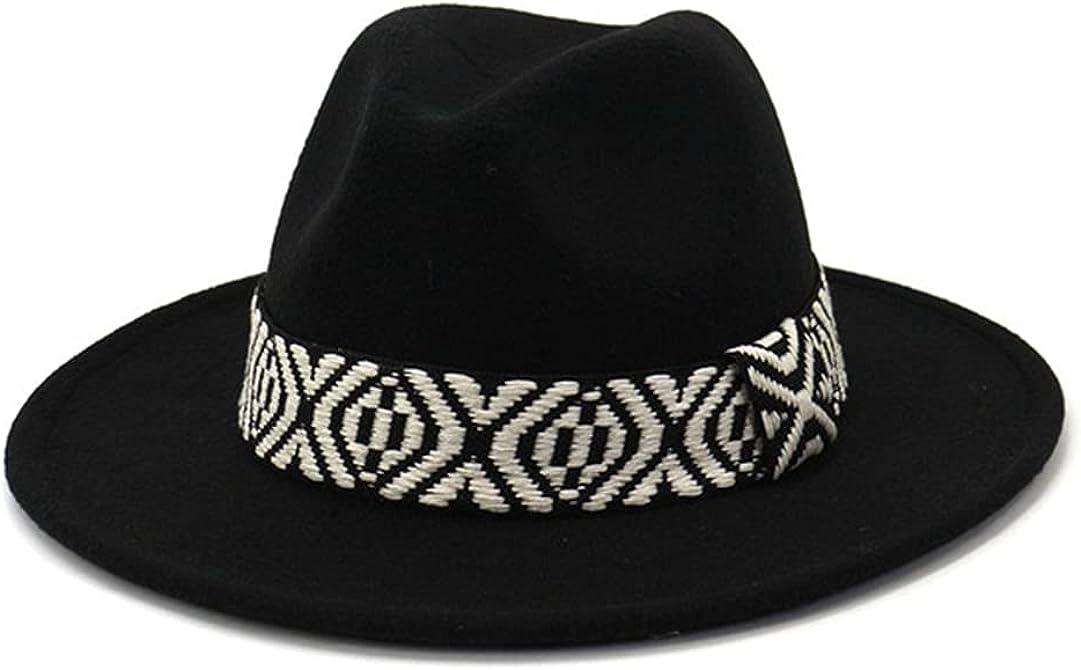 Women Classic Fedora Trilby Hats Men Vintage Autumn Winter Woolen Panama Jazz Hat