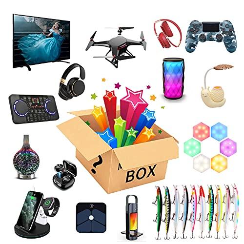 JEDNF Electronics Mystery Box Fortunato misteriosa scatole, Prodotti misteriosi Casuali, c'è la possibilità di Aprire: Come droni, Orologi Intelligenti, Auricolare Bluetoo
