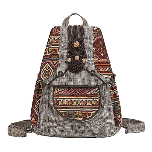 Eshow Women Backpack Ladies Rucksack Chest Bag Nylon Shoulder Bags Anti-Theft Crossbody Bag for Women Girl's Multifunctional Oxford Fashion Daypack Handbag (Beige-4)