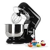 Klarstein Bella Nera - Küchenmaschine, Rührmaschine, Knetmaschine, 1200 W, 1,6 PS, 5,2 Liter,...